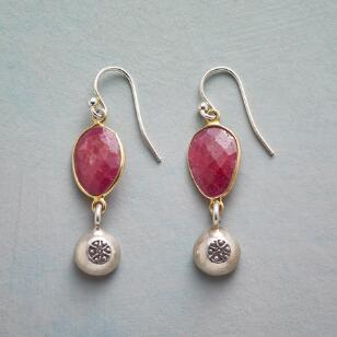 CHARMED BY RUBY EARRINGS