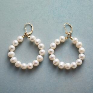 FULL CIRCLE PEARL EARRINGS