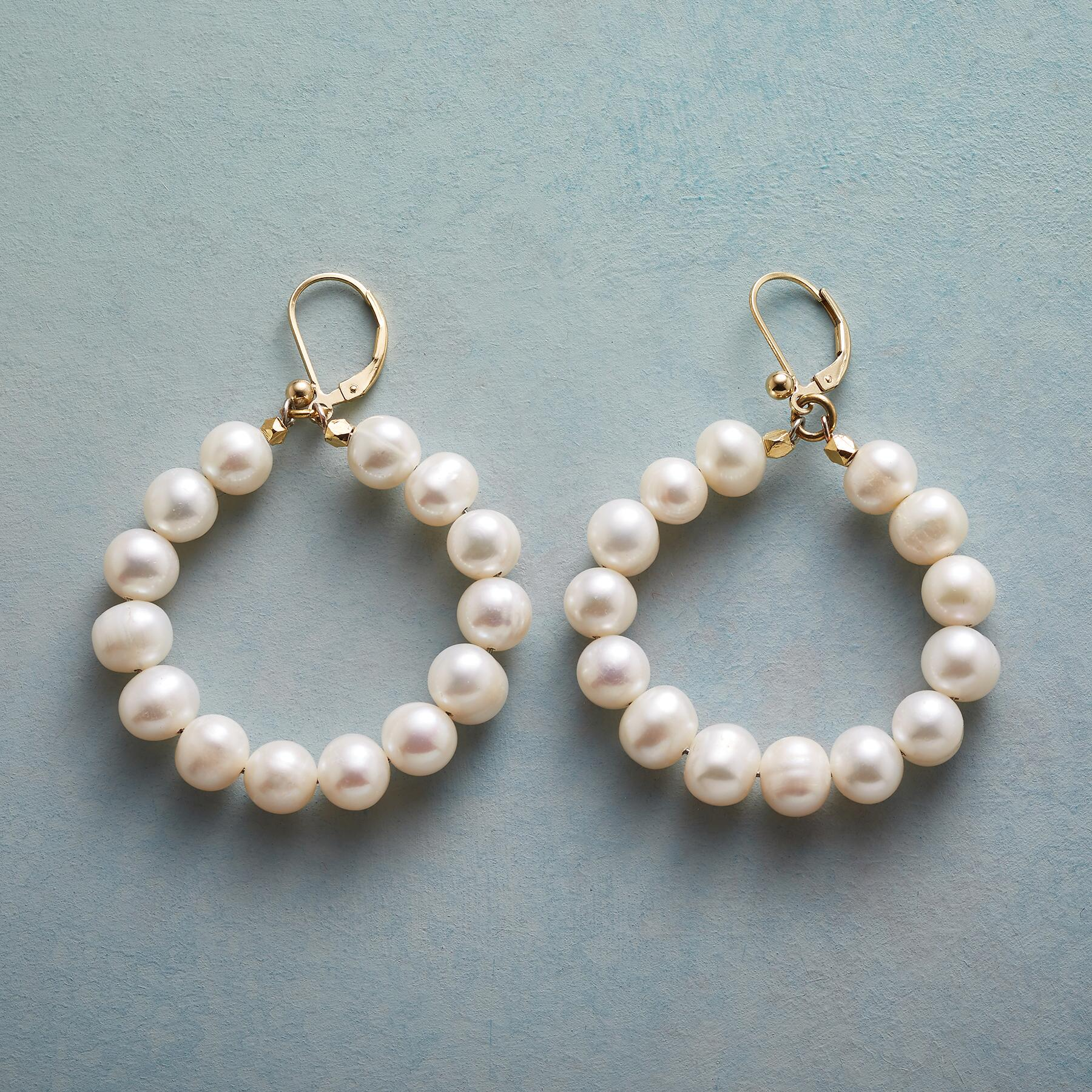 FULL CIRCLE PEARL EARRINGS: View 1