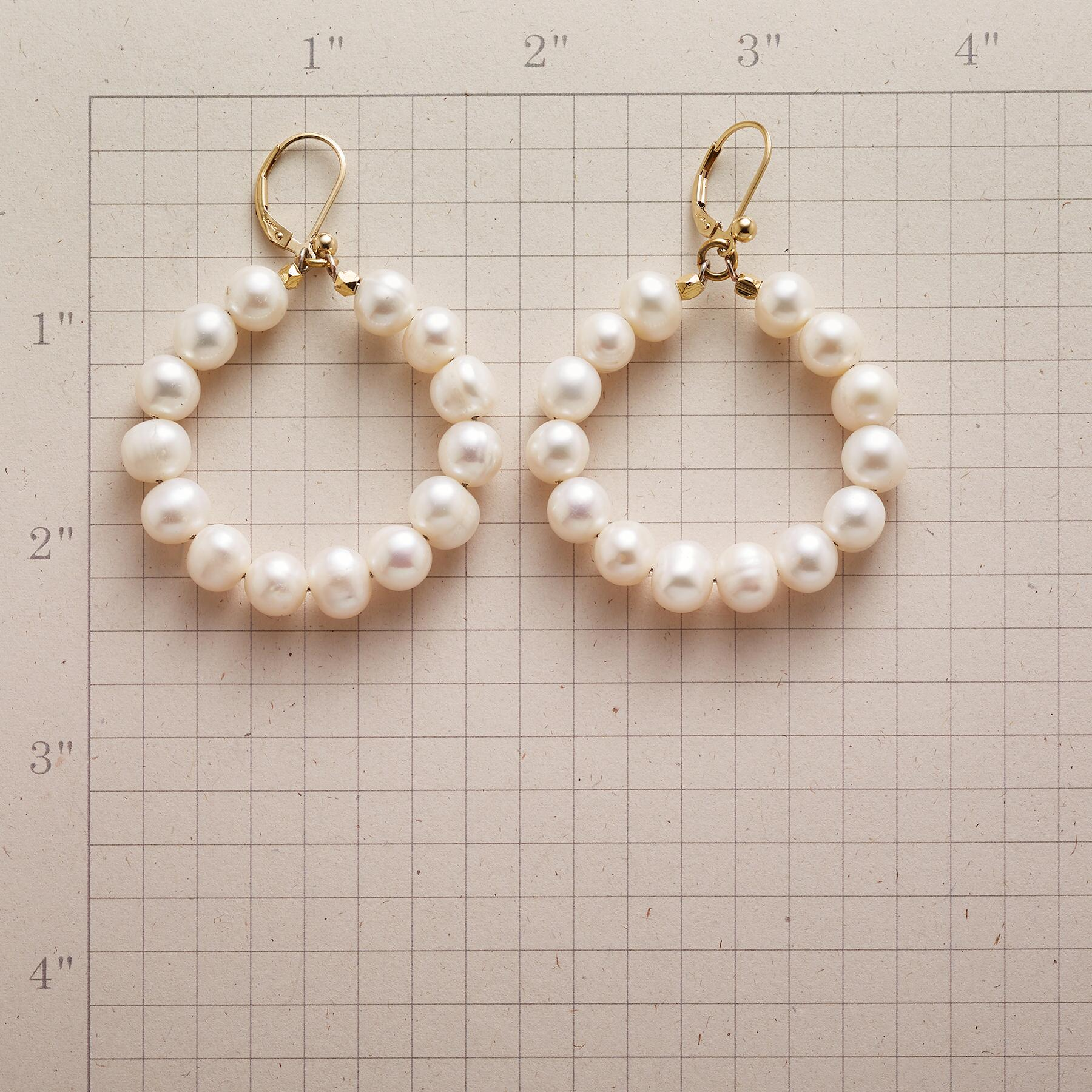 FULL CIRCLE PEARL EARRINGS: View 2