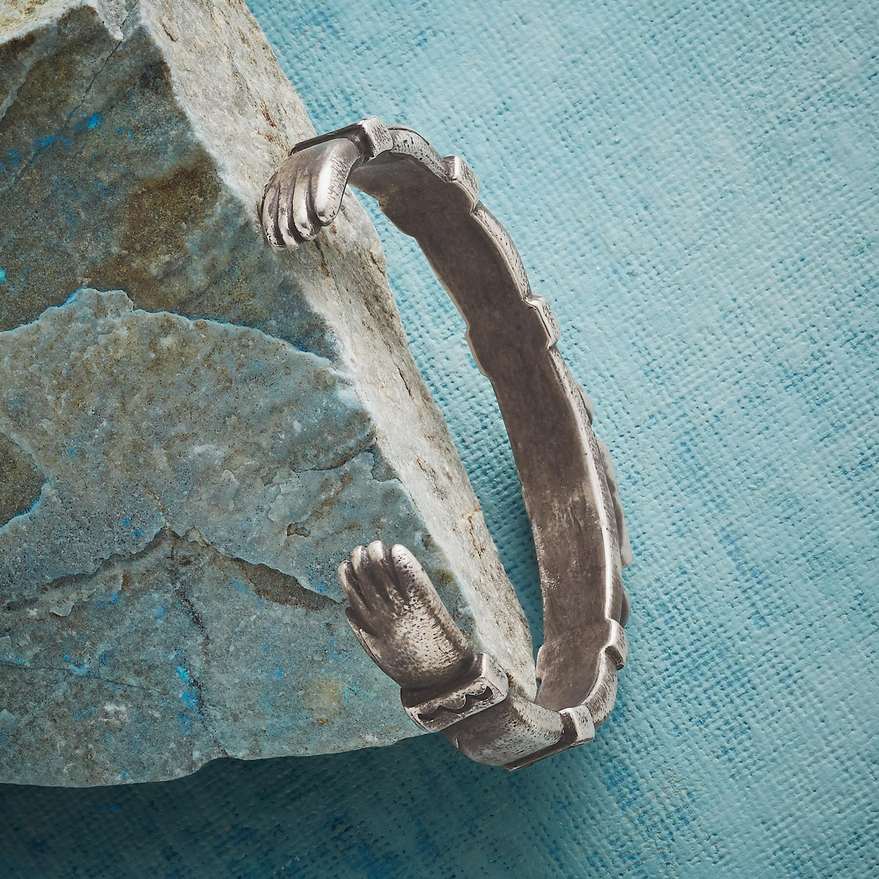 HEART AND HANDS CUFF BRACELET: View 3