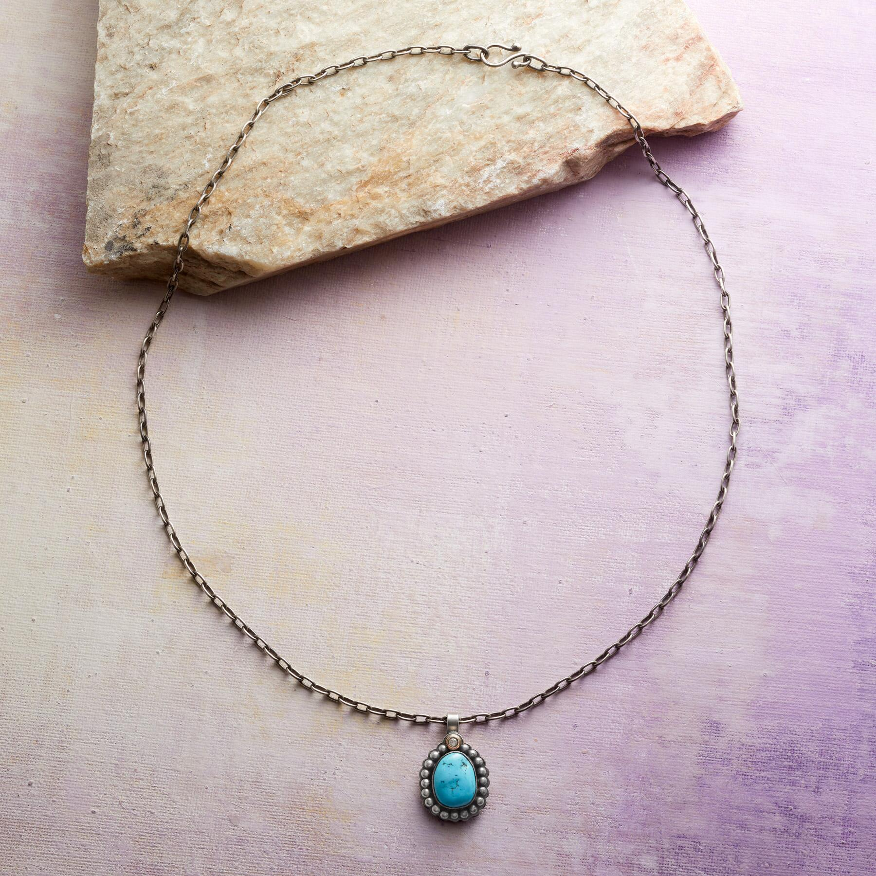TURQUOISE & DIAMOND NECKLACE: View 2