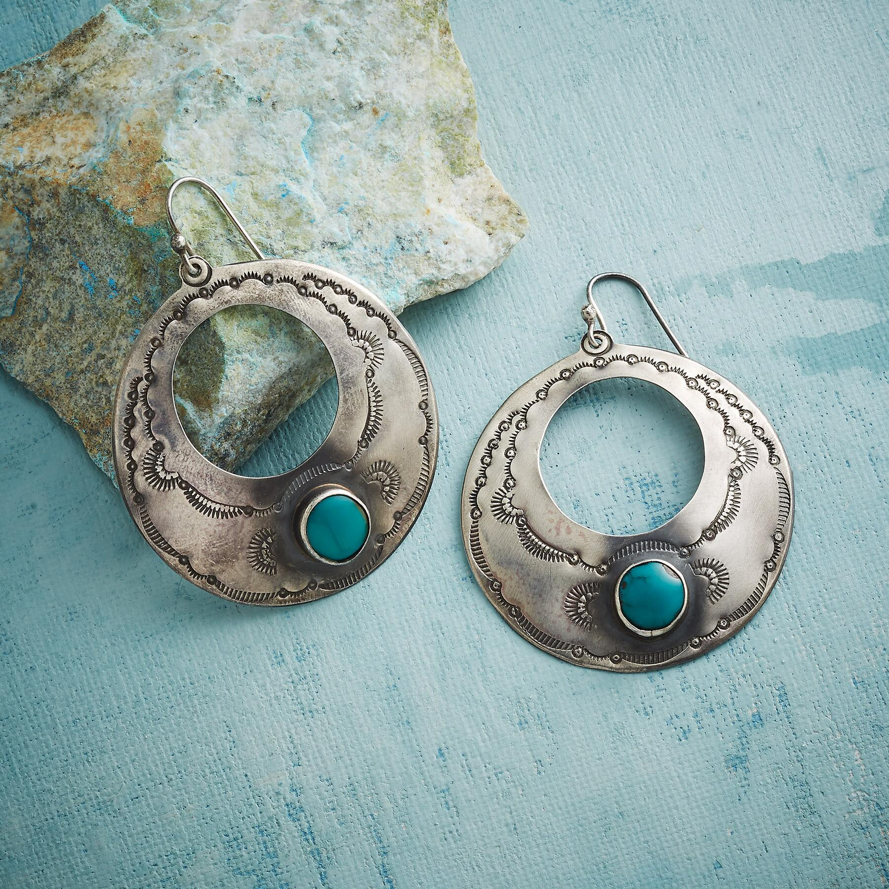 TRUE SPIRIT TURQUOISE EARRINGS: View 1