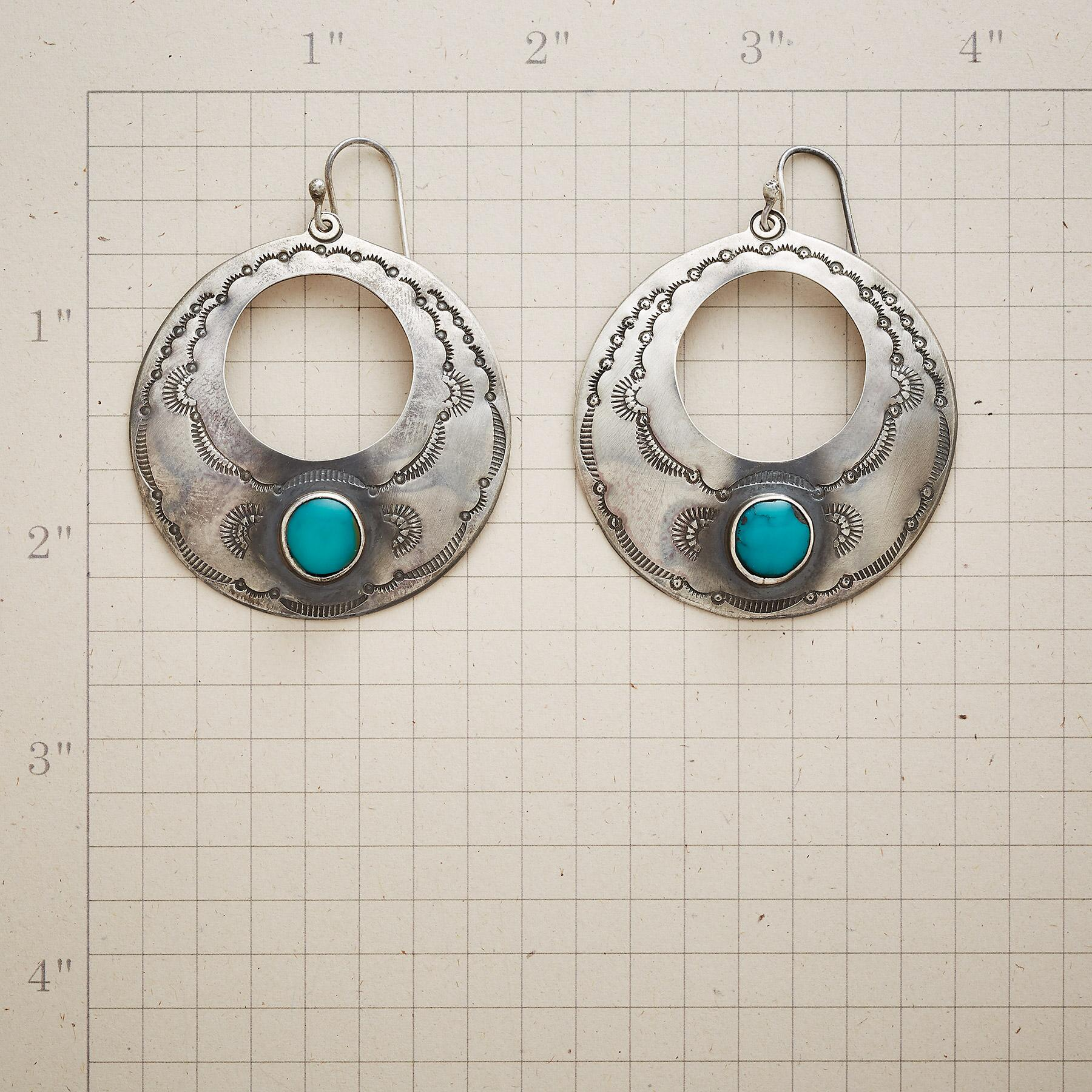 TRUE SPIRIT TURQUOISE EARRINGS: View 2