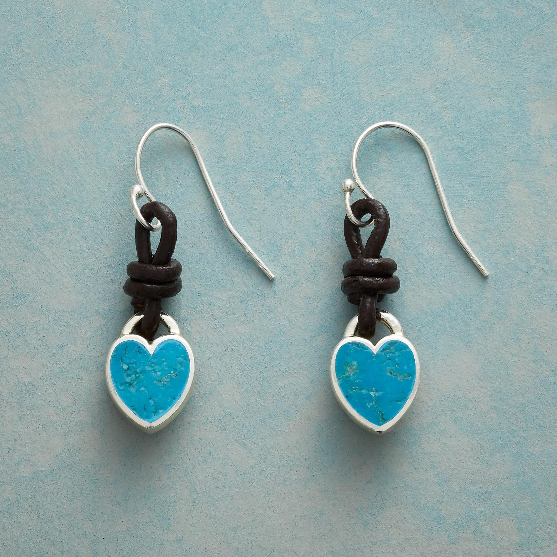 LOVE KNOT TURQUOISE EARRINGS: View 1