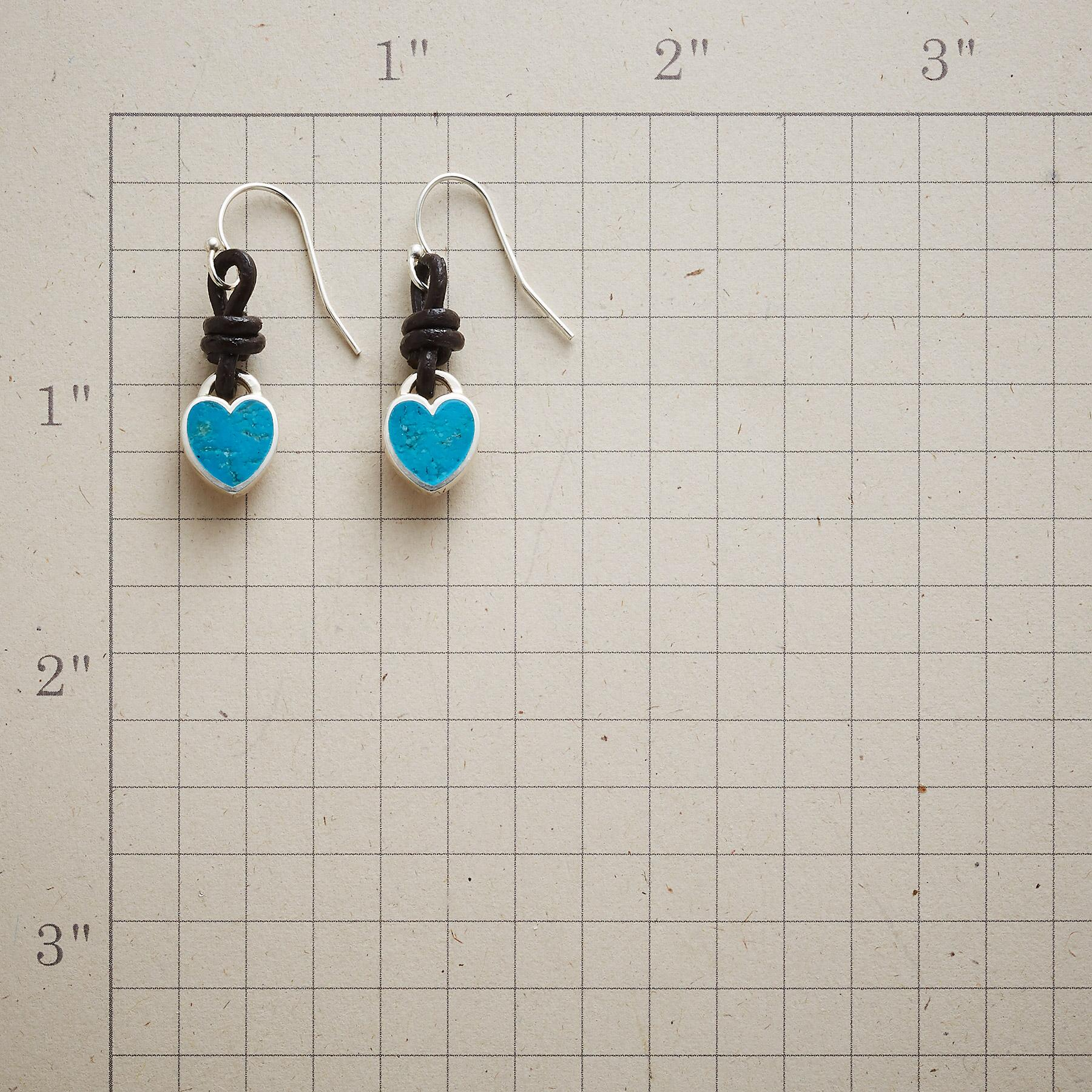 LOVE KNOT TURQUOISE EARRINGS: View 2