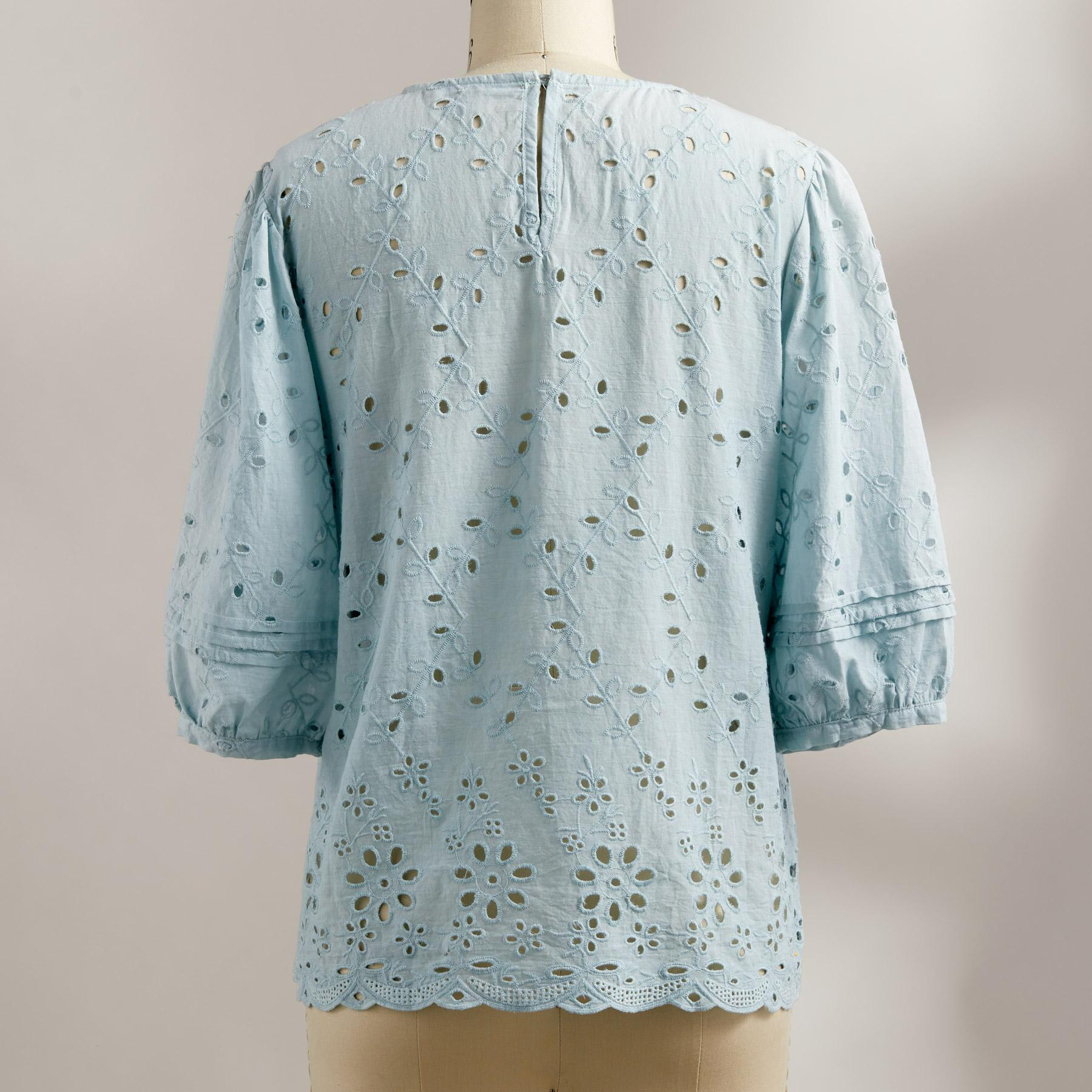 EVIE EYELET BLOUSE: View 2