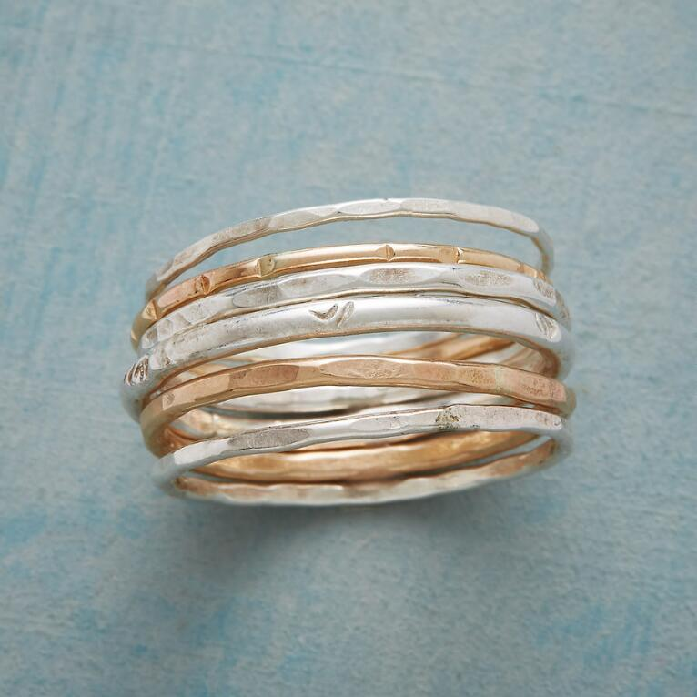 RAY OF LIGHT RINGS, SET OF 6