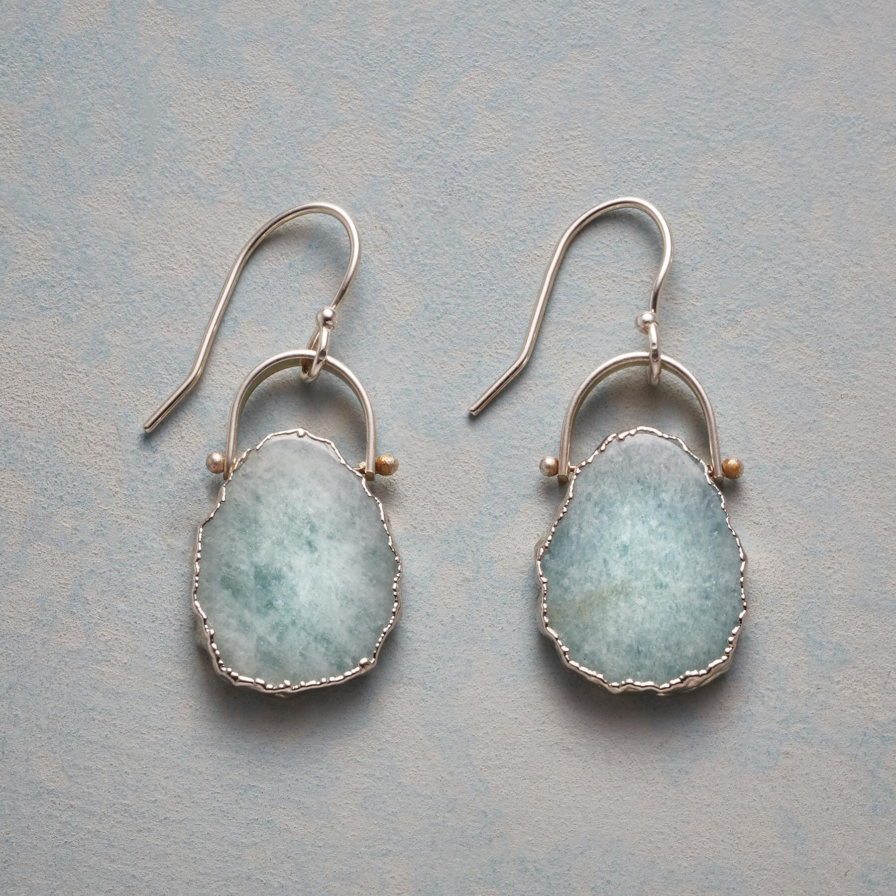 SEAFOAM EARRINGS: View 1