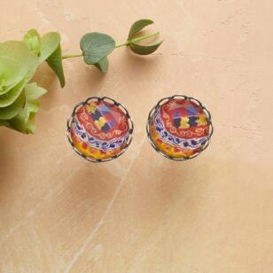 CRYSTAL KALEIDOSCOPE EARRINGS