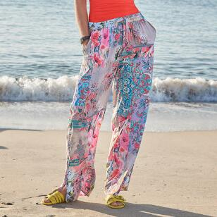 BOTANICAL PRINTED PANTS