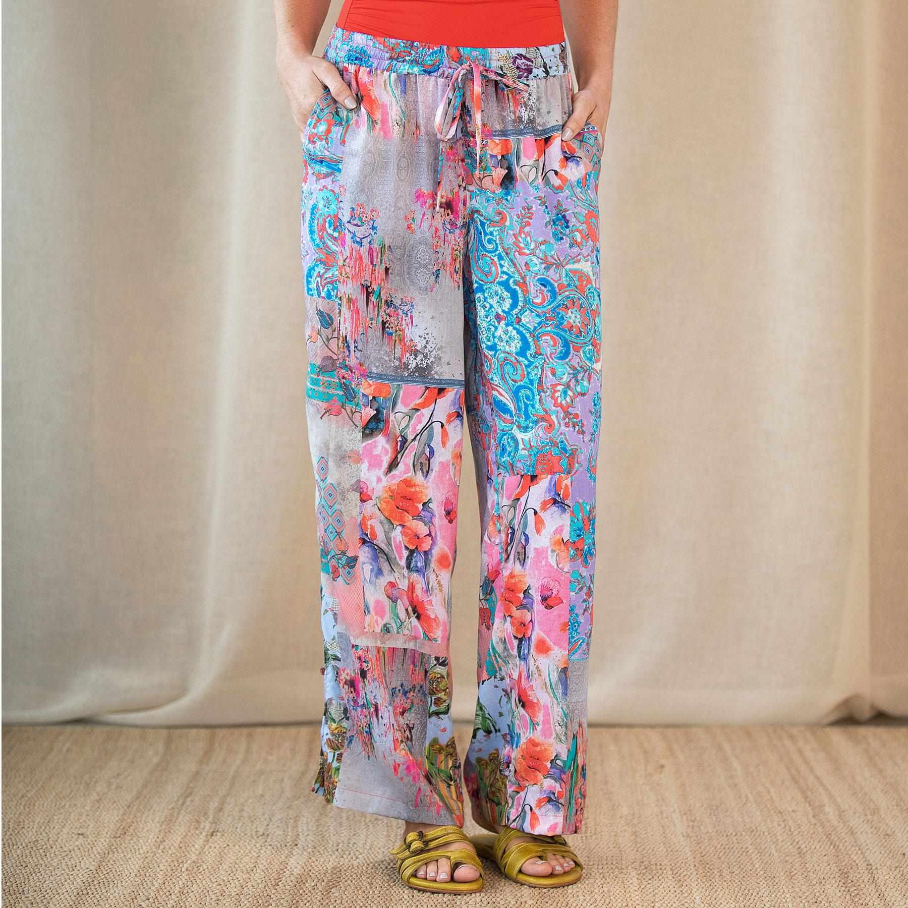 BOTANICAL PRINTED PANT: View 2