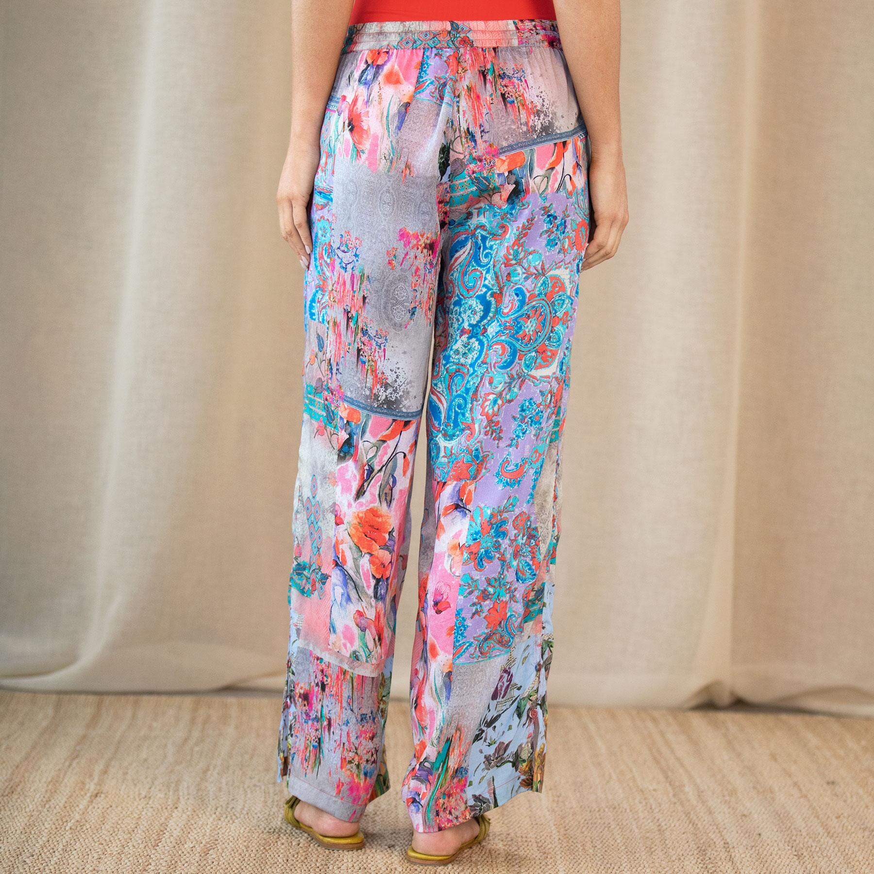 BOTANICAL PRINTED PANT: View 3
