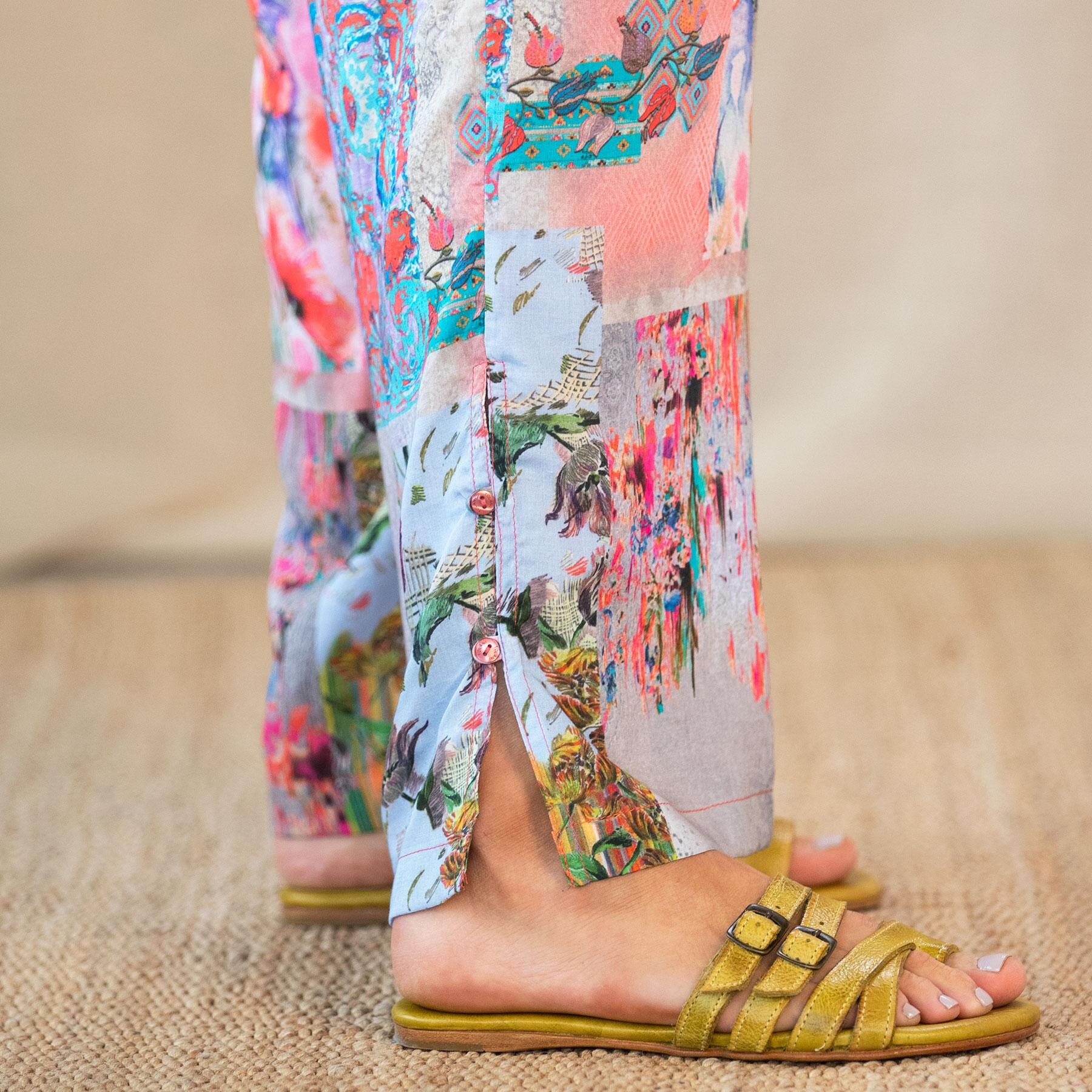 BOTANICAL PRINTED PANT: View 5