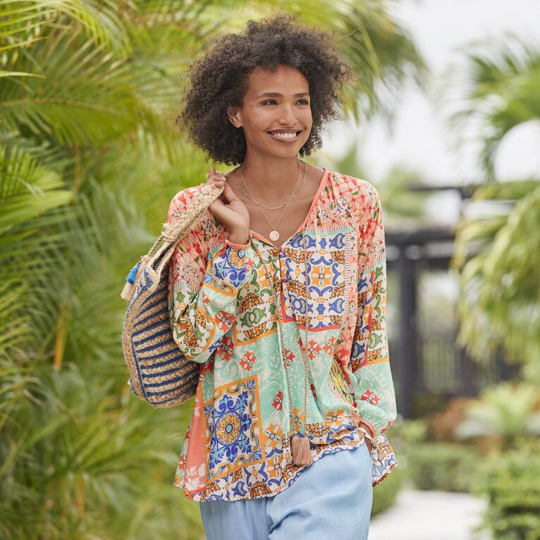 PRINTED ESCAPE TUNIC