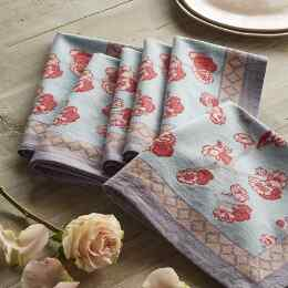 SPRING BLUSH CHERRY BLOSSOM NAPKINS, SET OF 6