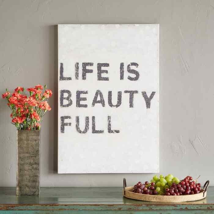 LIFE IS BEAUTY FULL PRINT