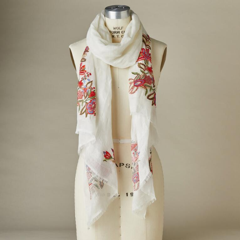 FLOWERS FOR LUCK SCARF