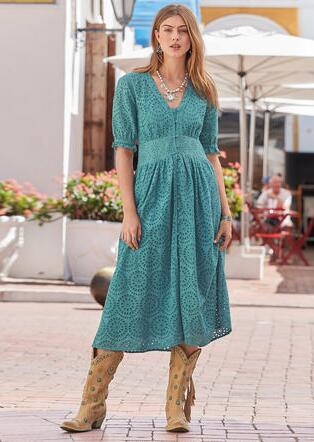 WINDBLOWN DRESS - PETITES