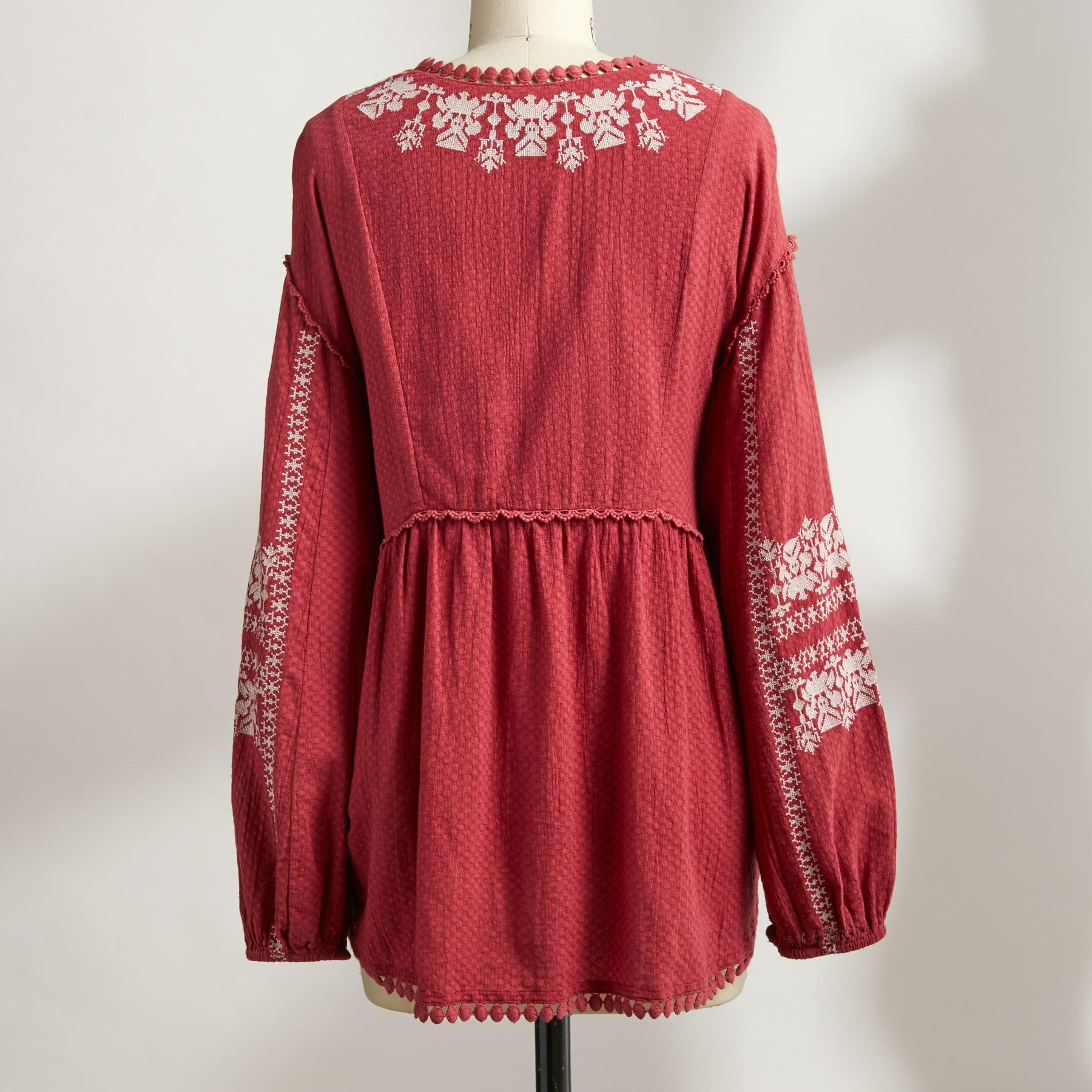 NADIA EMBROIDERED BLOUSE PETITE: View 3