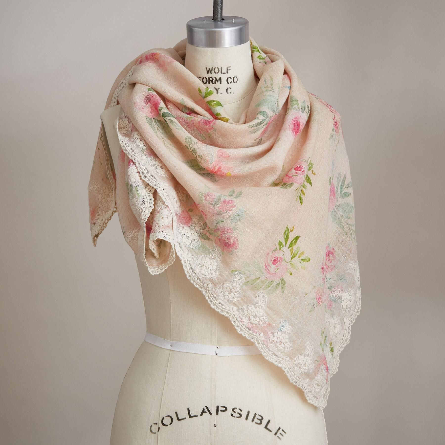 BYGONE BLOOMS SCARF: View 1