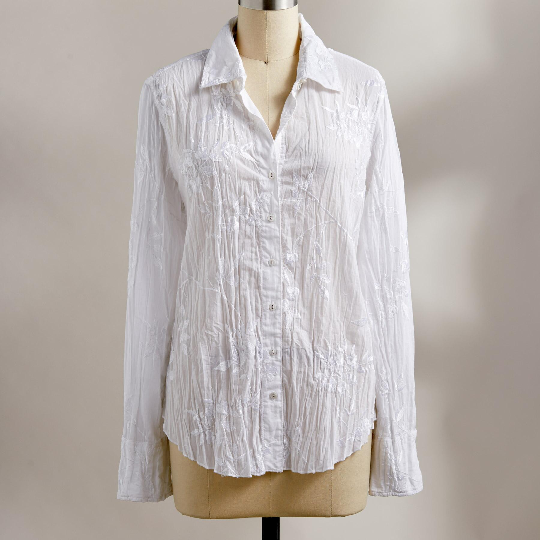 ELLA EMBROIDERED SHIRT: View 2