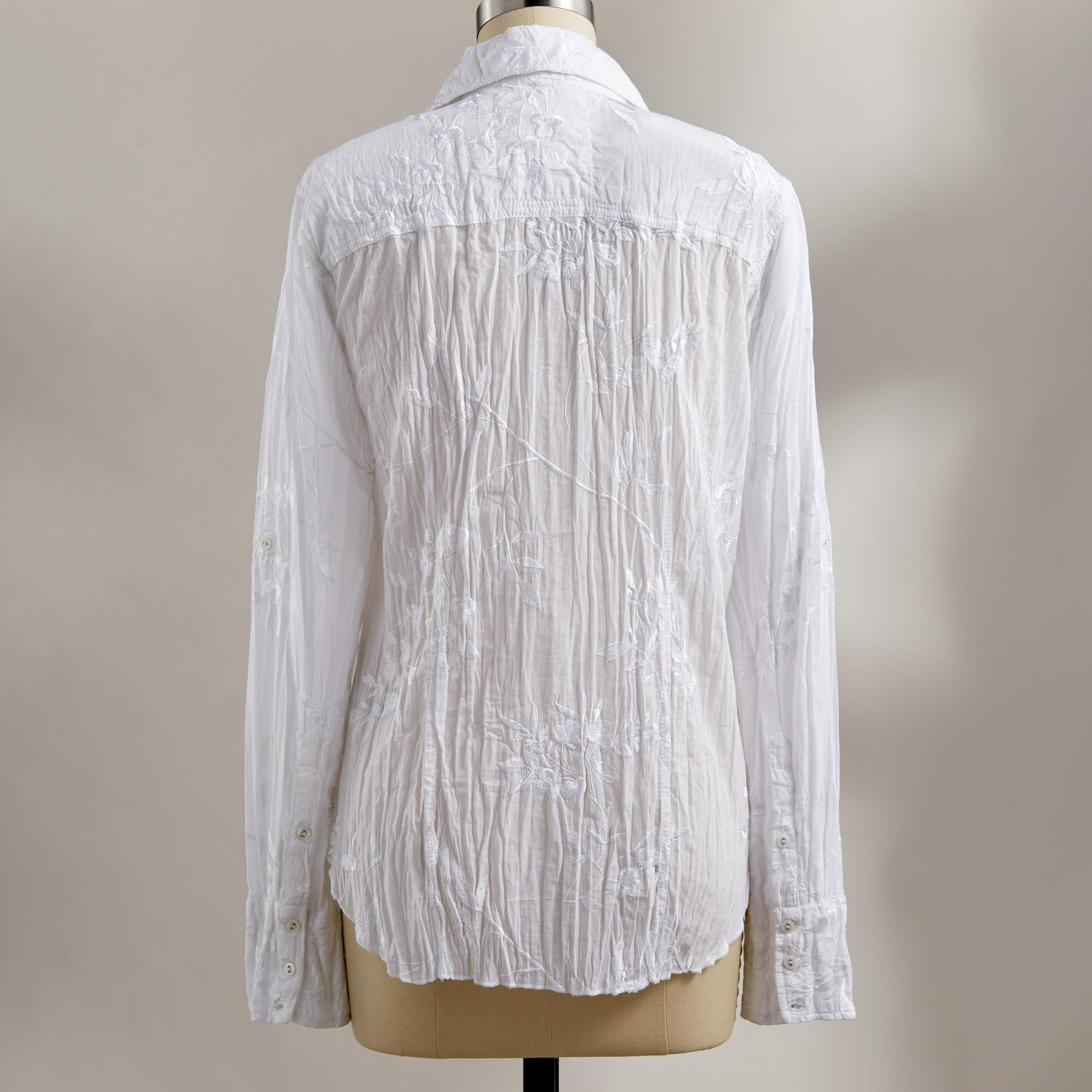 ELLA EMBROIDERED SHIRT: View 3