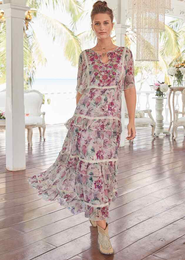 PLANTATION DRESS - PETITES