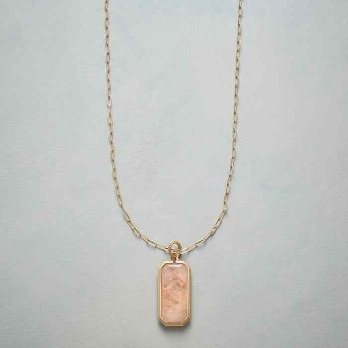 MORGANITE DECO NECKLACE