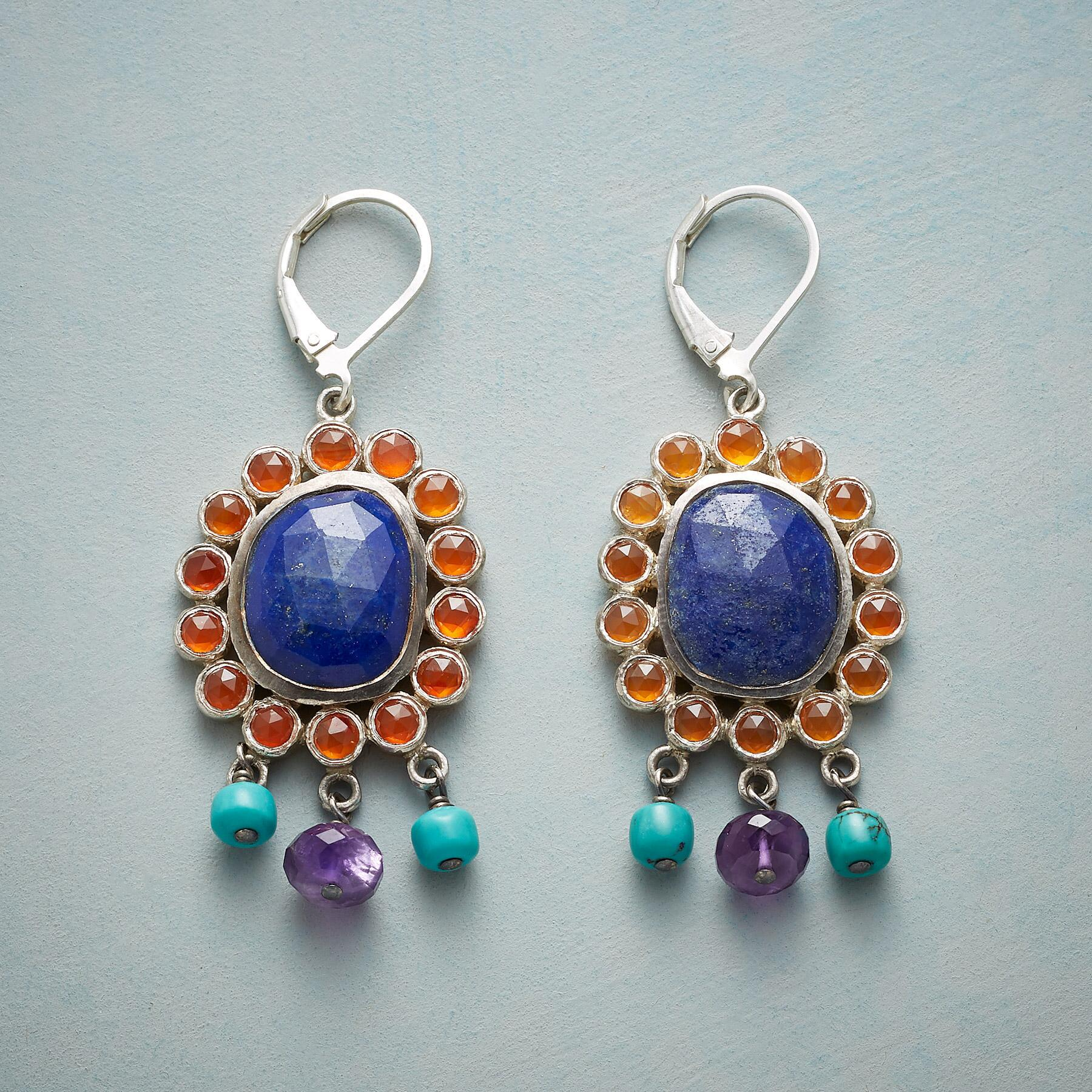 CORNFLOWER AFTERNOONS EARRINGS: View 1