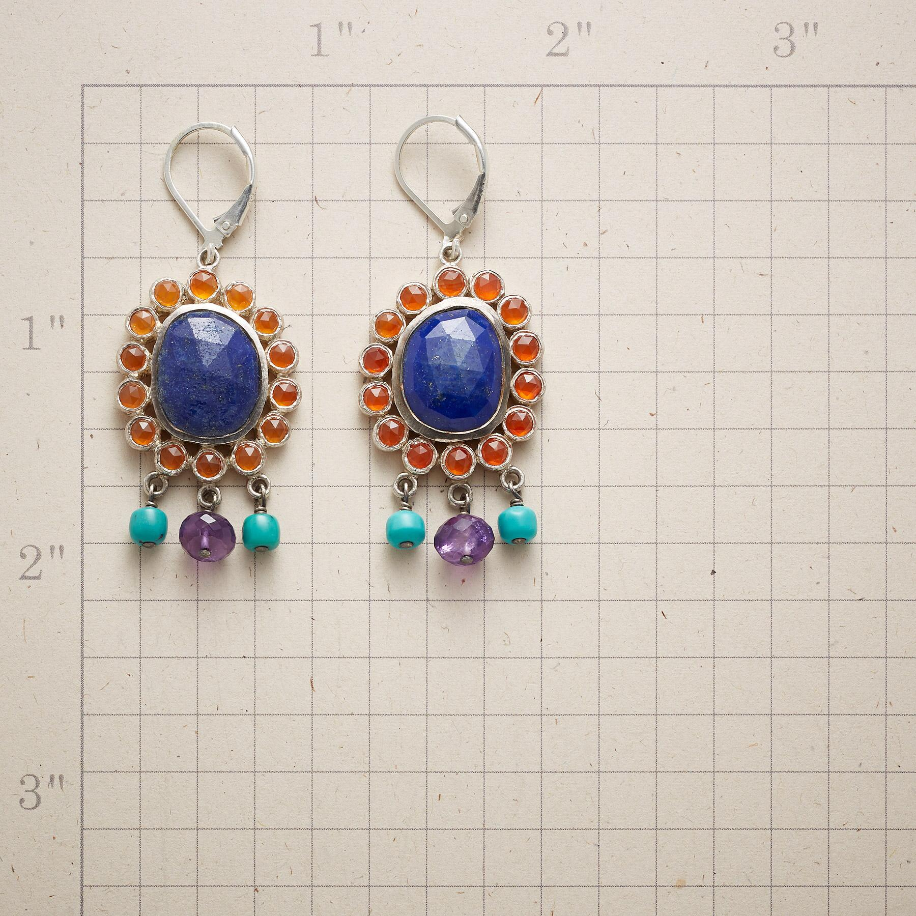 CORNFLOWER AFTERNOONS EARRINGS: View 2