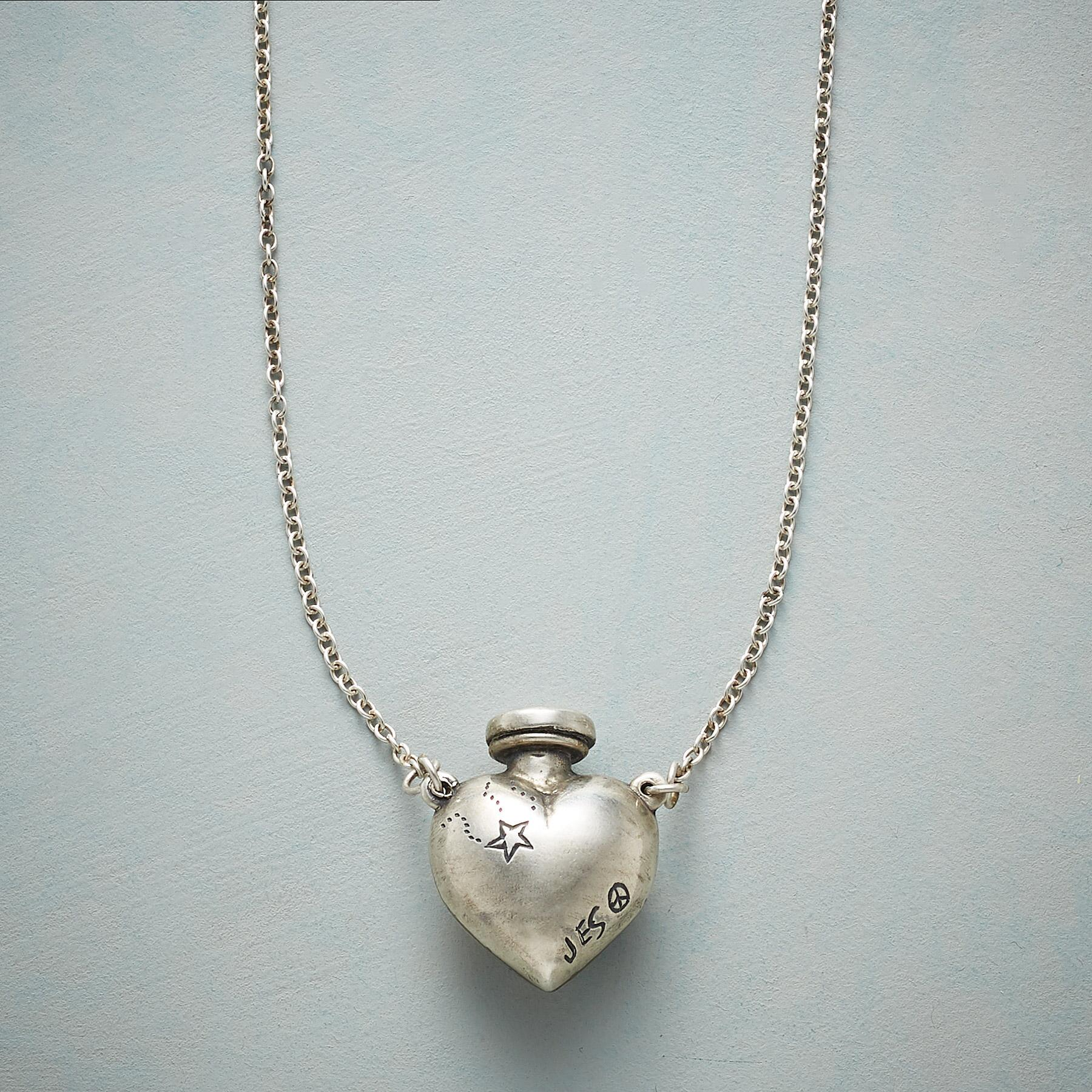 Sterling Silver Heart Vessel Necklace - Sundance.