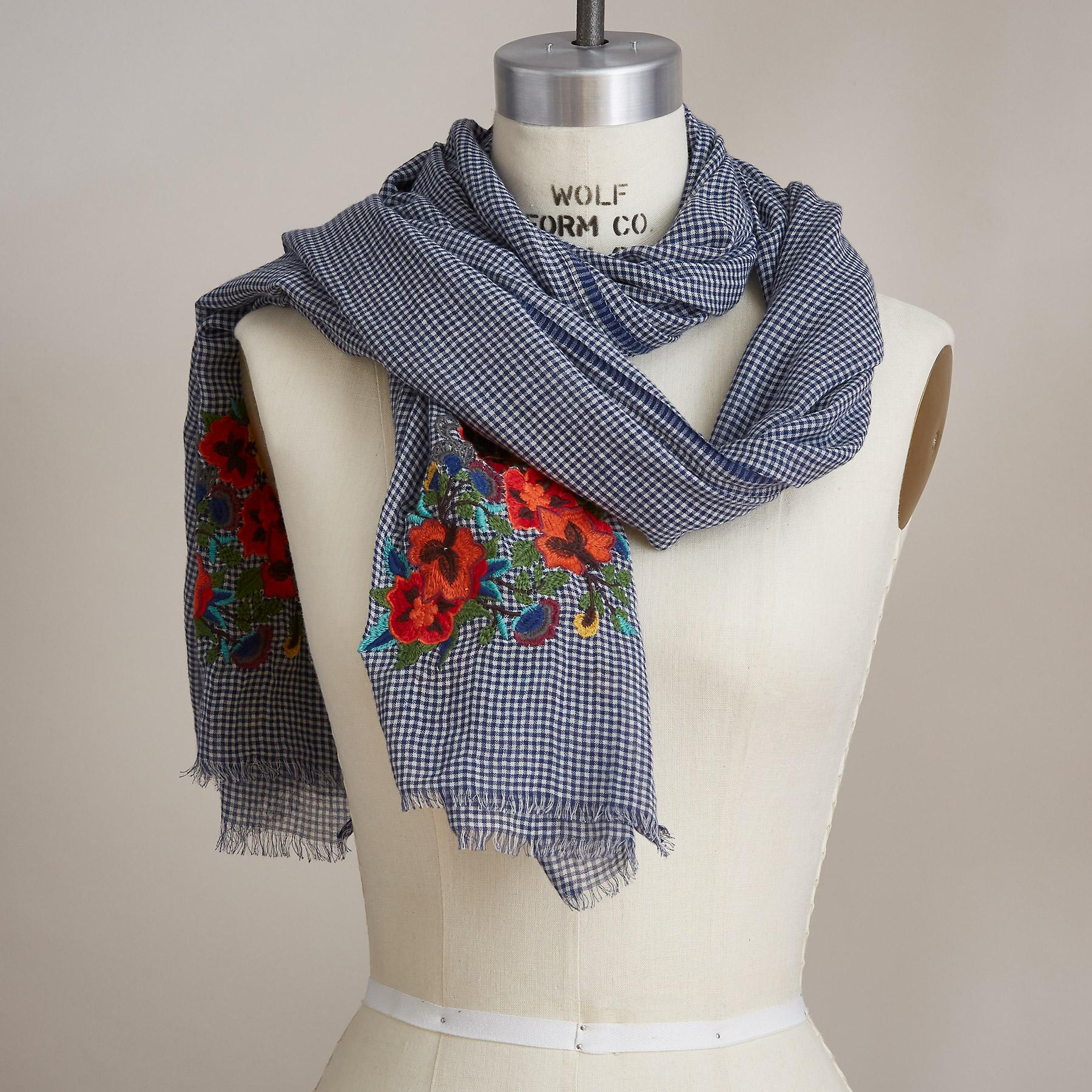 CHECK FLOWER SCARF: View 1