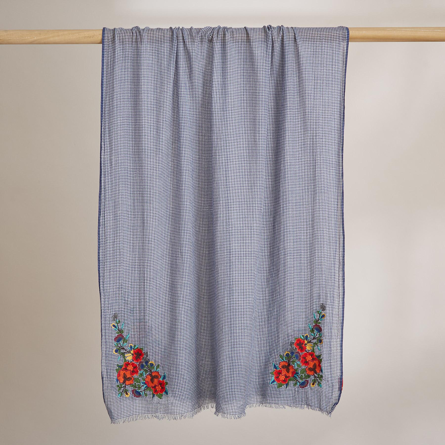 CHECK FLOWER SCARF: View 2