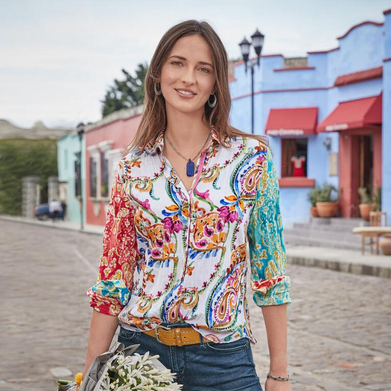JOIN THE MIX TROPICAL TOP