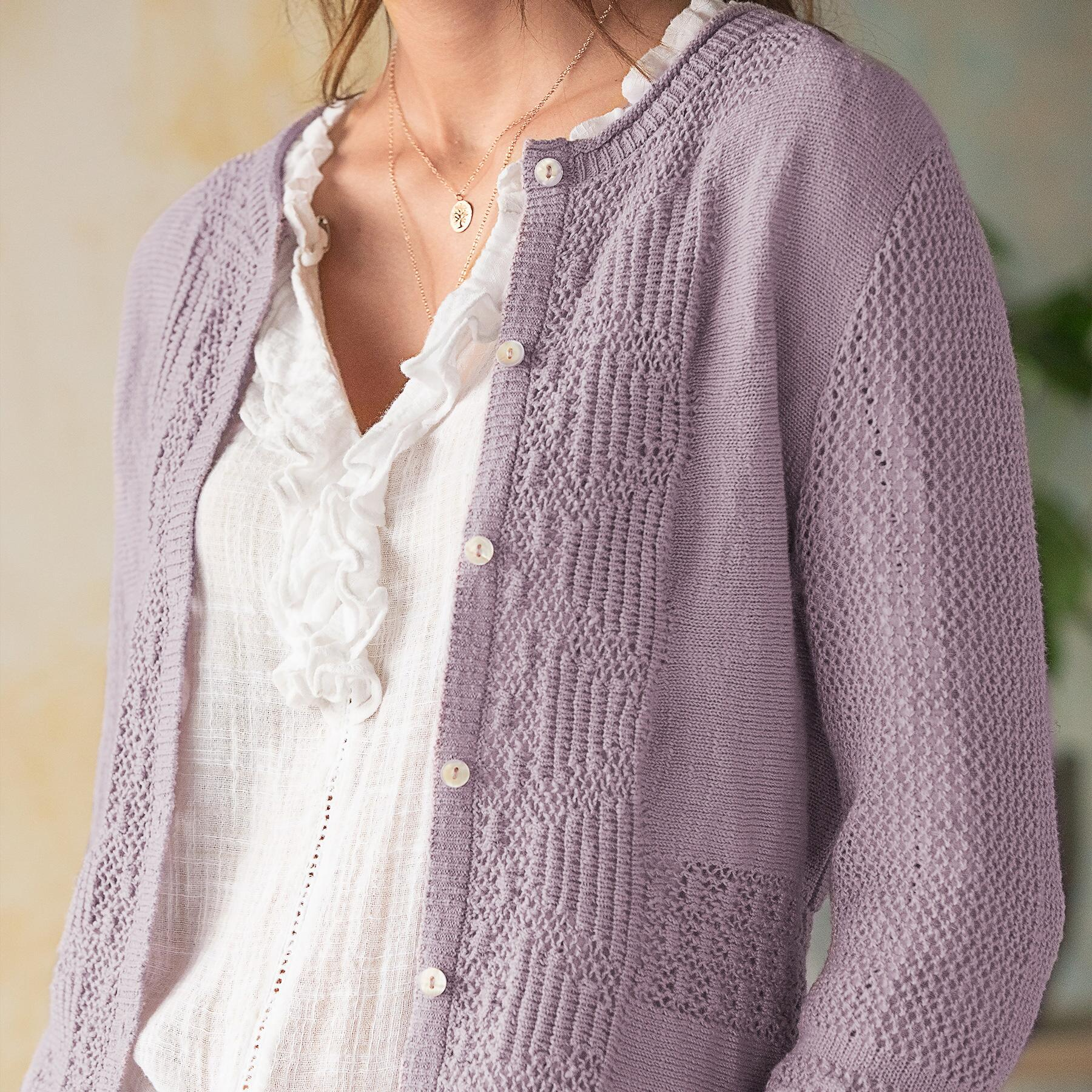 BEAU POINTELLE CARDIGAN: View 3