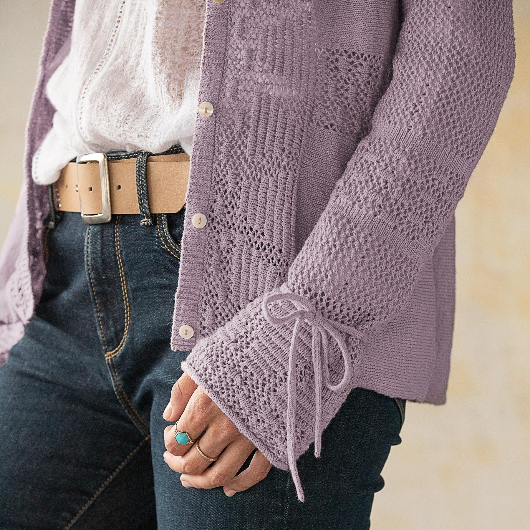 BEAU POINTELLE CARDIGAN: View 4