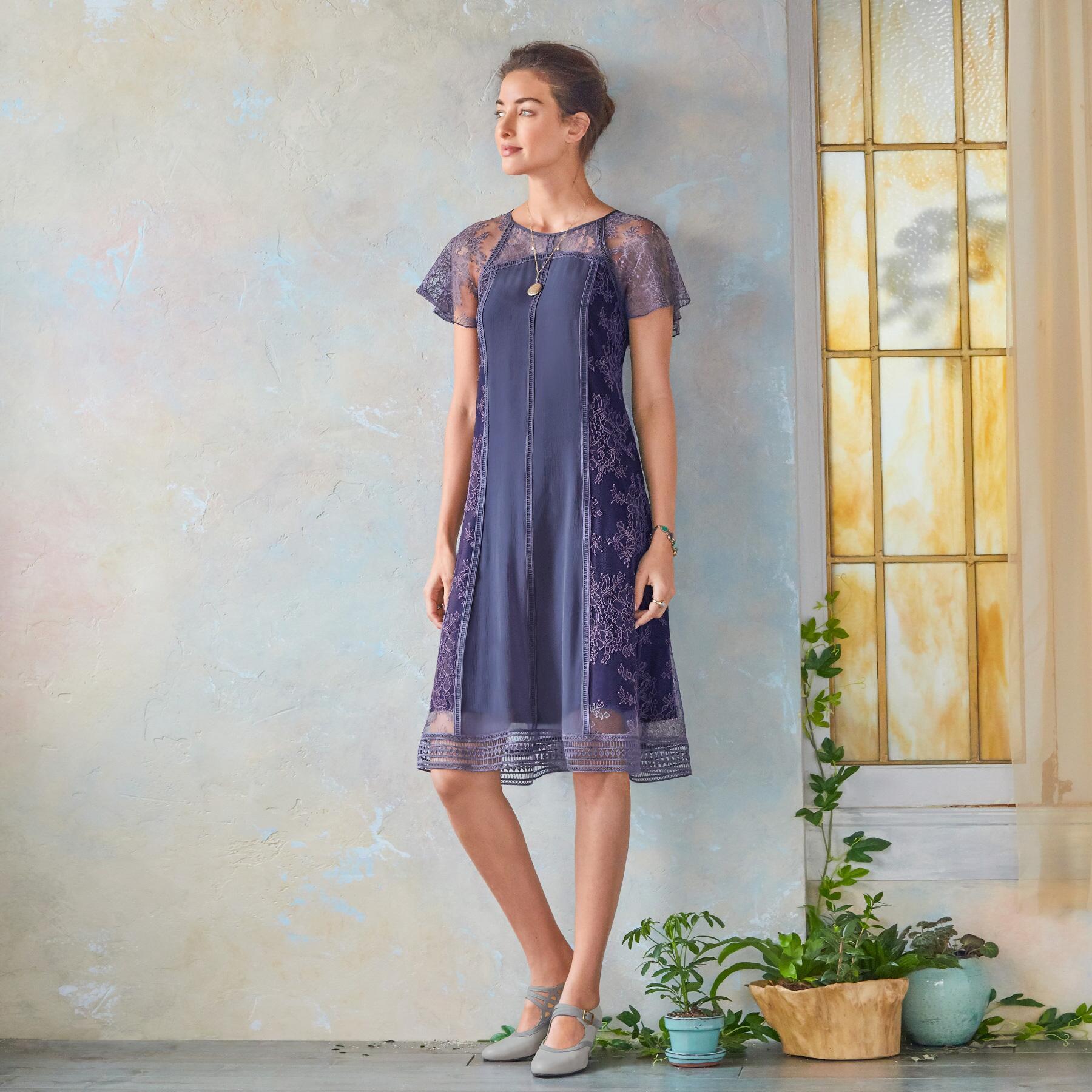 ALEXANDRITE LACE DRESS: View 1
