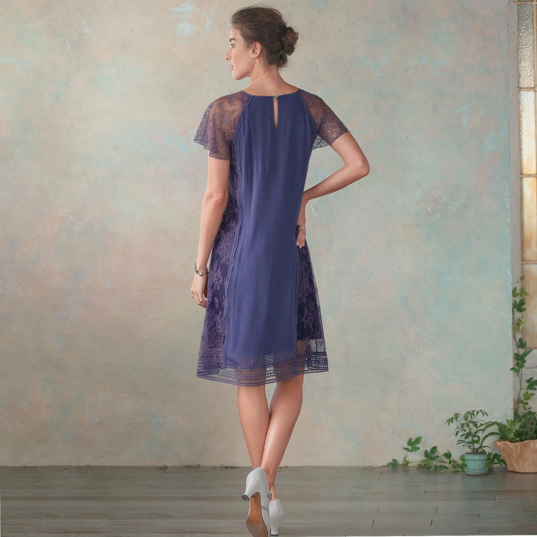 ALEXANDRITE LACE DRESS: View 2