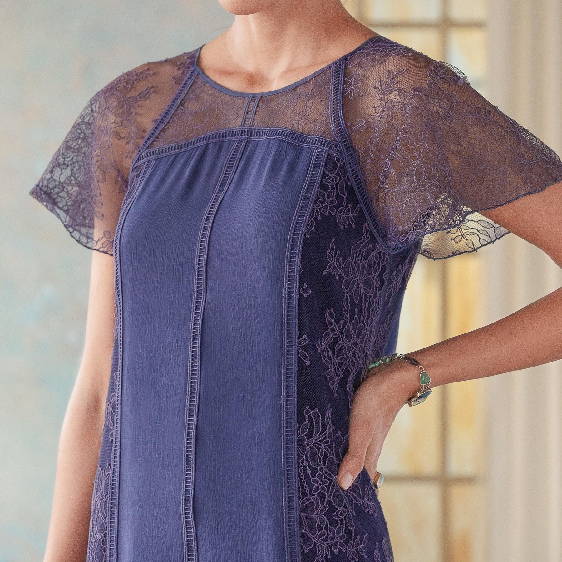 ALEXANDRITE LACE DRESS: View 3