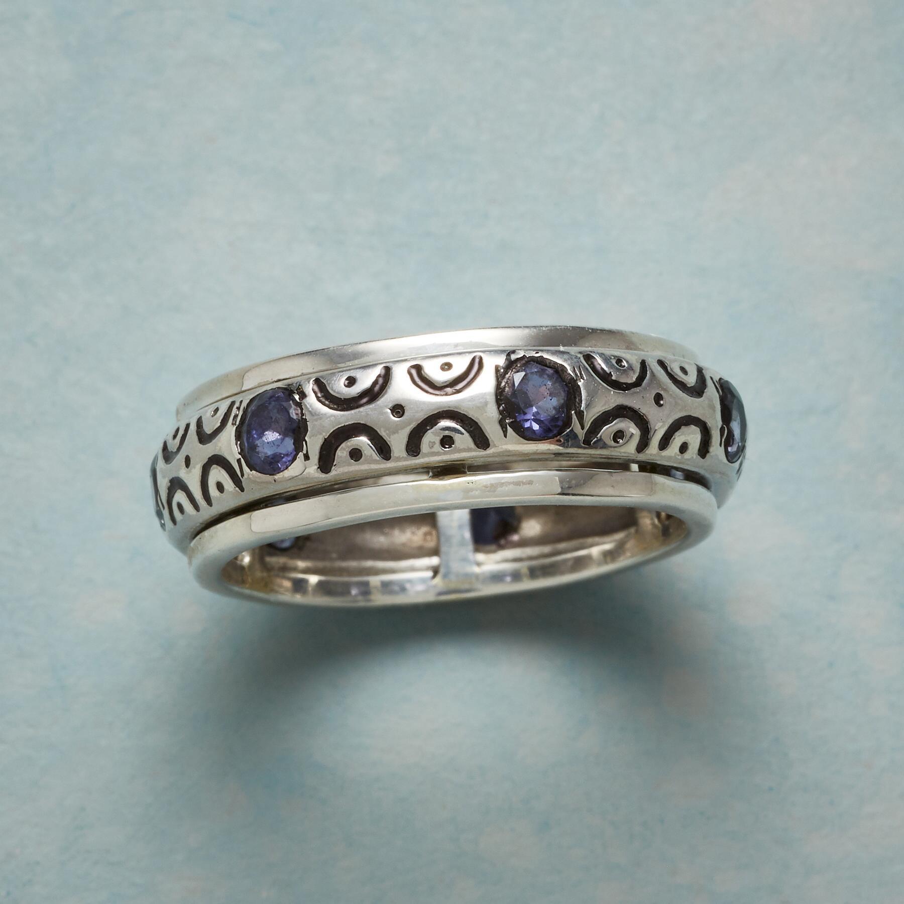 Scalloped Iolite Ring