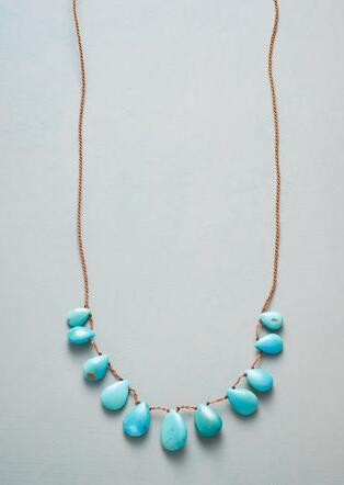 TASSELED TURQUOISE NECKLACE