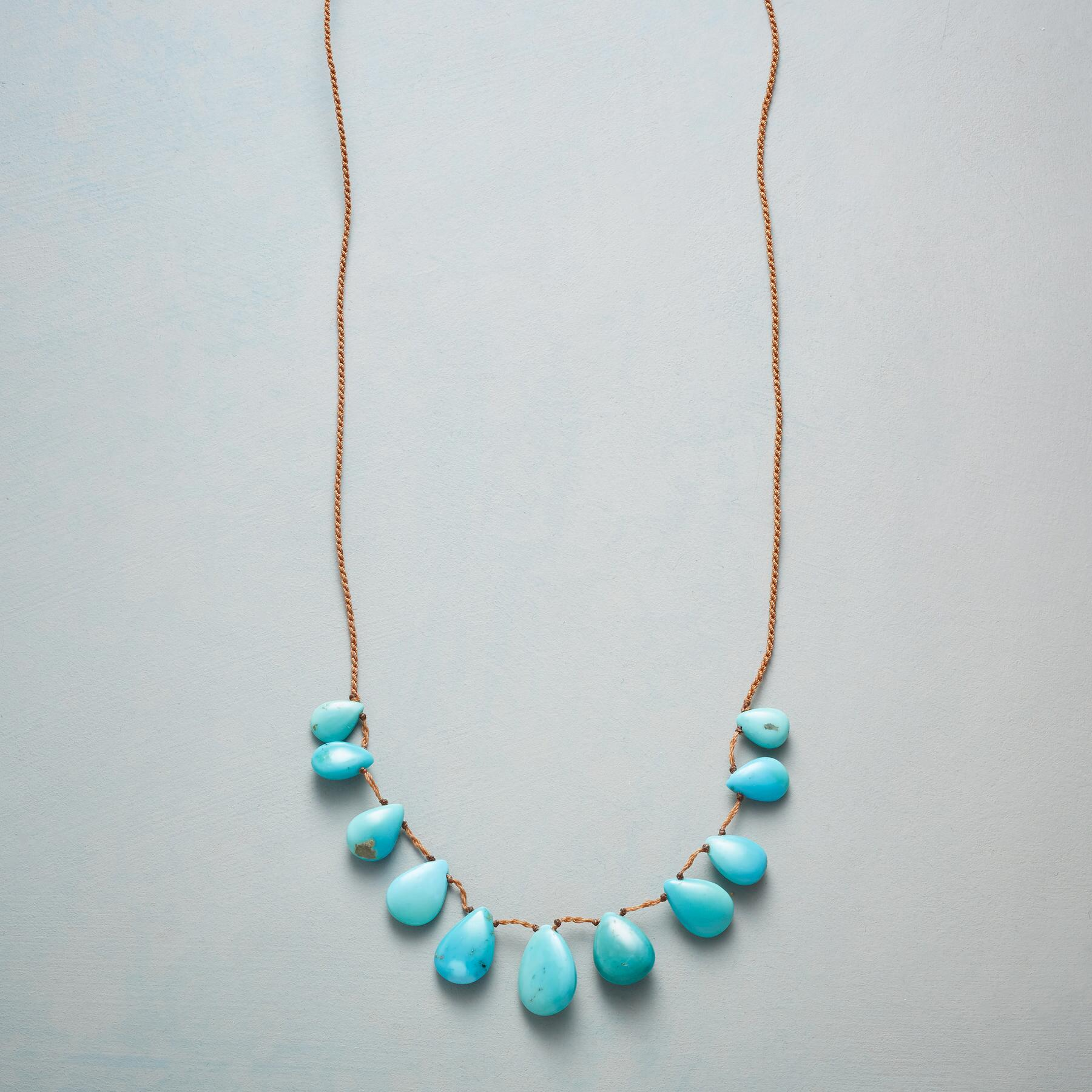 TASSELED TURQUOISE NECKLACE: View 1