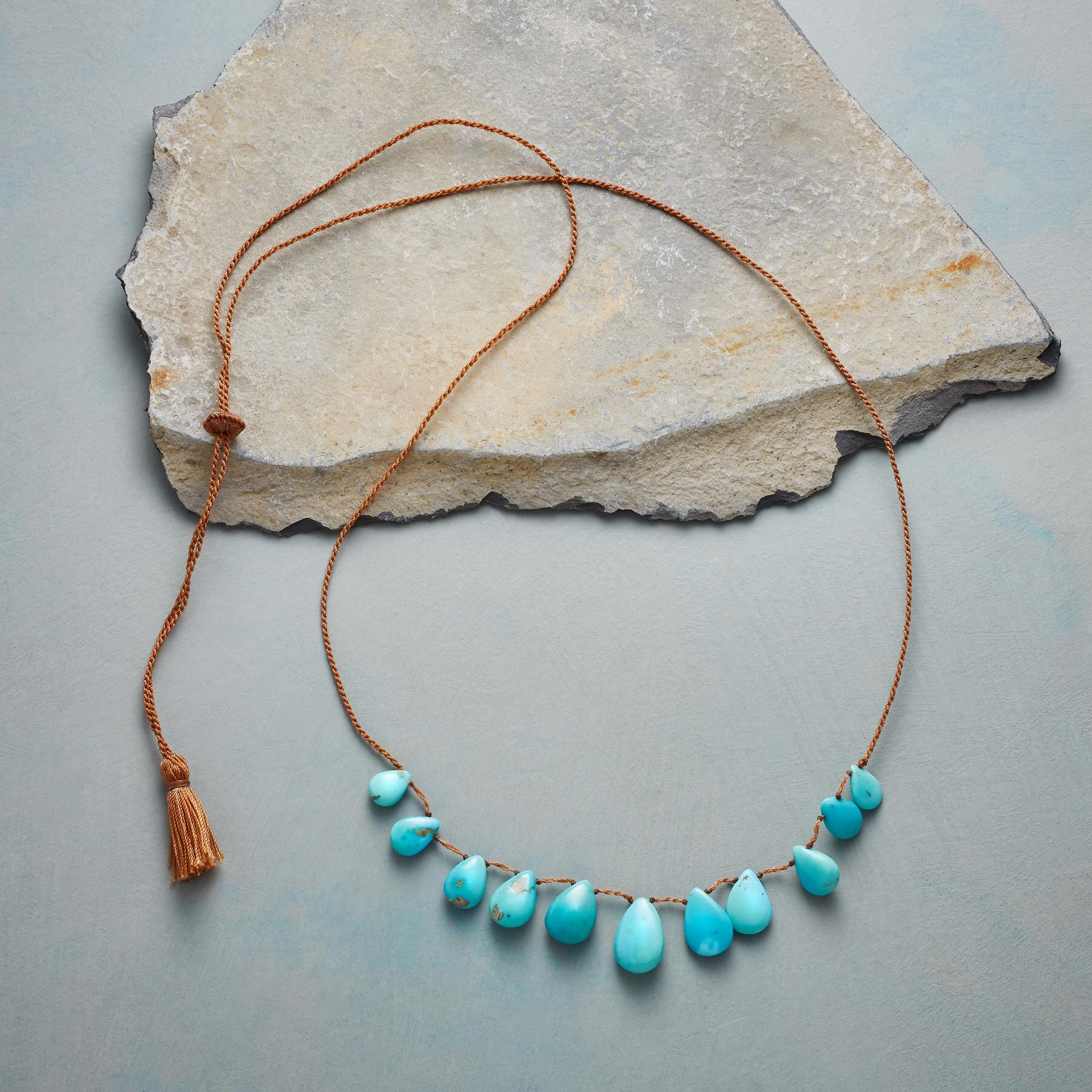 TASSELED TURQUOISE NECKLACE: View 2