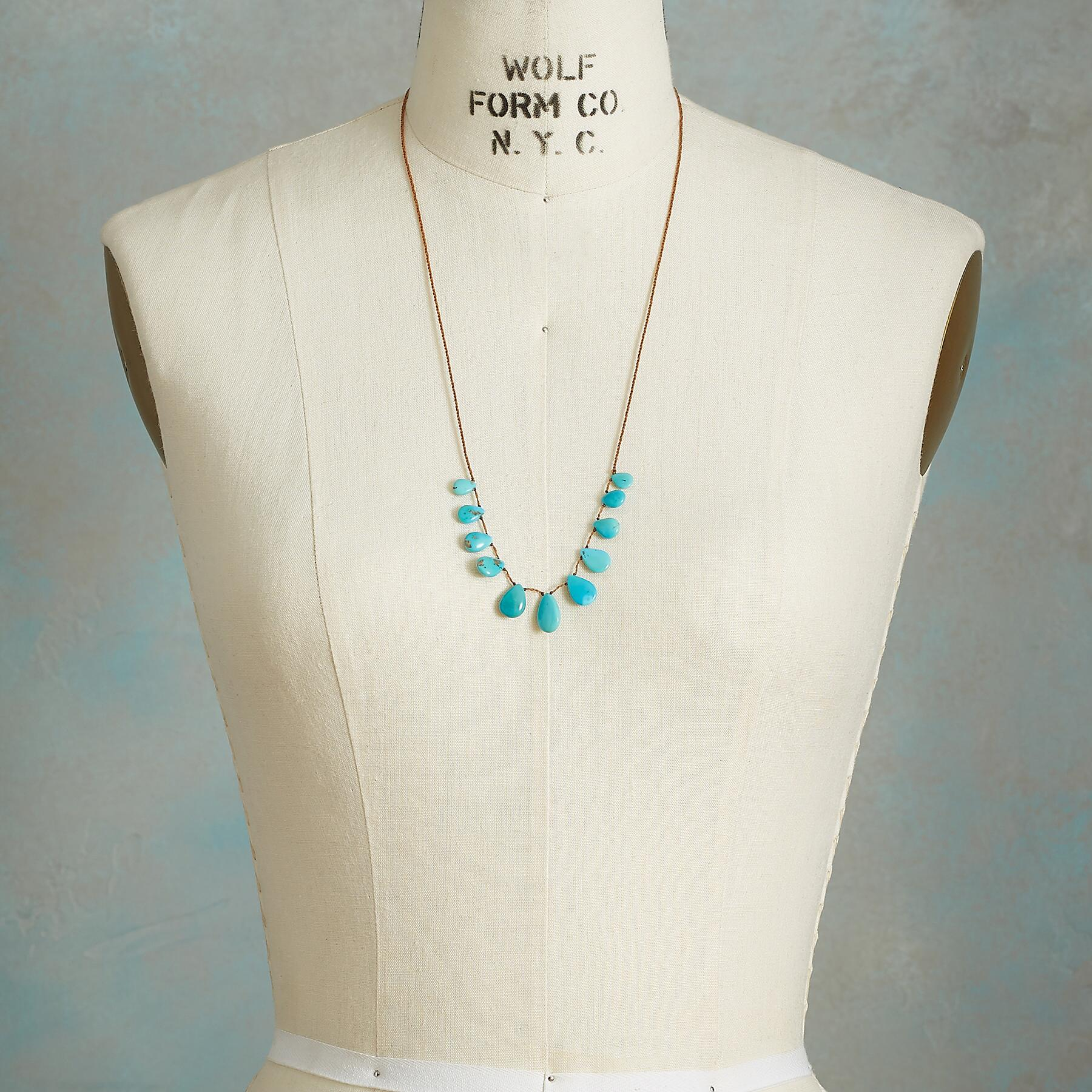 TASSELED TURQUOISE NECKLACE: View 4