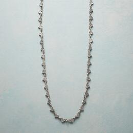 STERLING SILVER CHAIN OF HEARTS NECKLACE