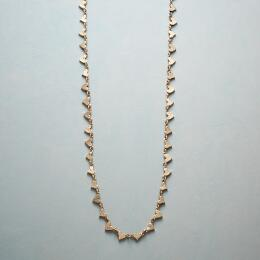 14KT GOLD CHAIN OF HEARTS NECKLACE