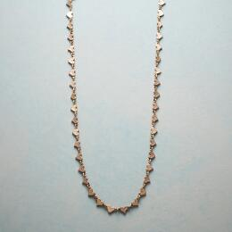 ROSE GOLD CHAIN OF HEARTS NECKLACE