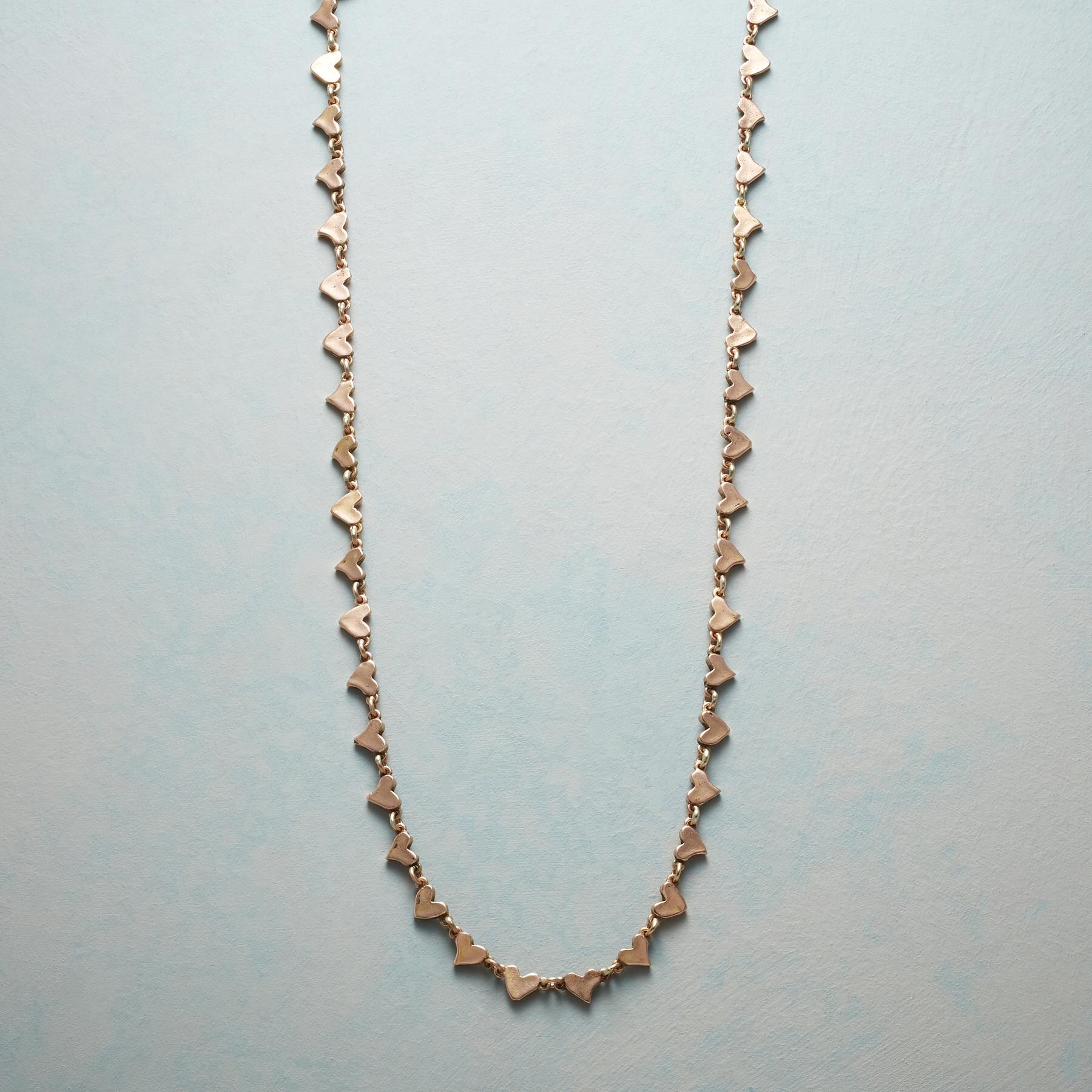ROSE GOLD CHAIN OF HEARTS NECKLACE: View 1