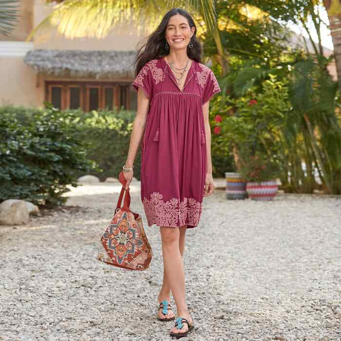 BRIGHT PATHWAY DRESS PETITE